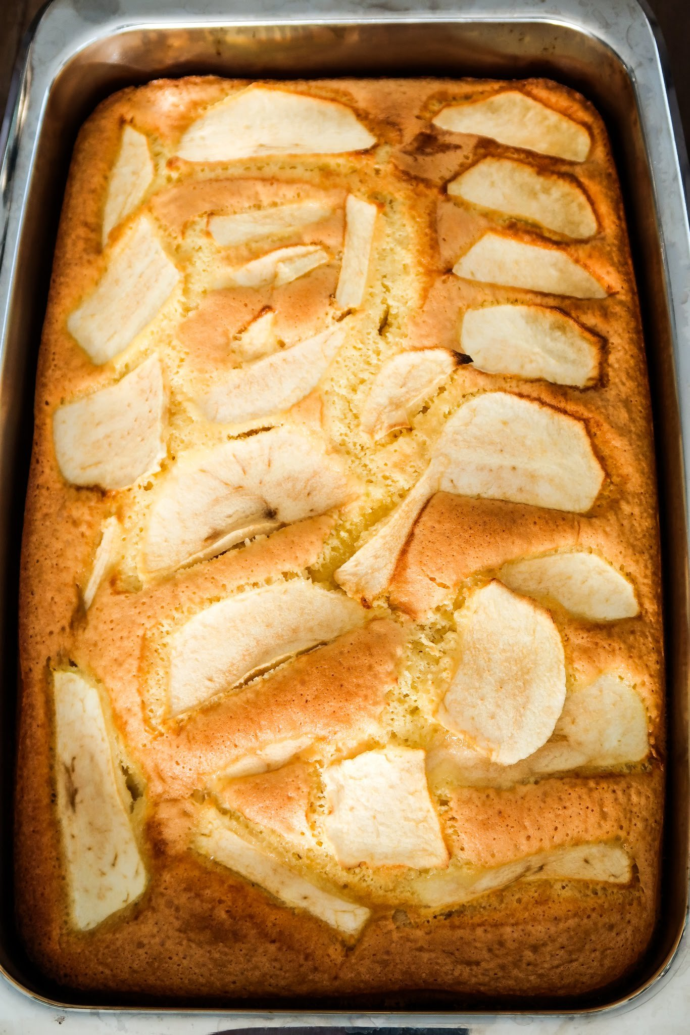 Homemade apple cake - easy apple dessert that is simple and easily customizable! This easy apple recipe is great for dessert or breakfast with your morning coffee or tea!