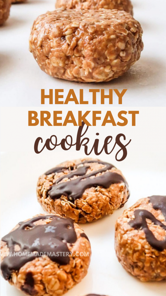 Healthy Breakfast Cookies! These no-bake peanut butter cookies are the perfect on the go healthy breakfast recipe - easy and super tasty!