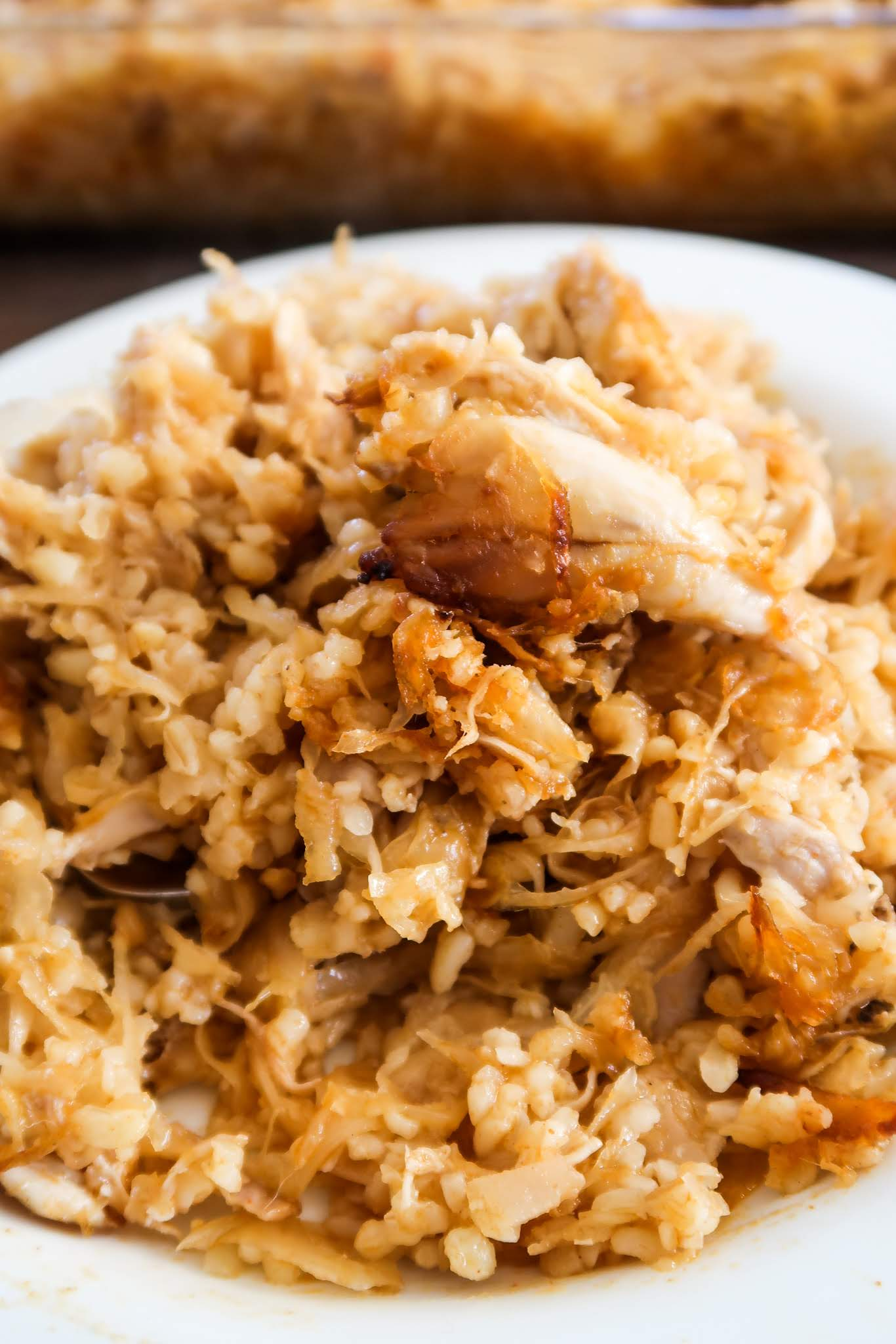 Chicken With Sauerkraut And Bulgur - easy chicken dinner recipe that requires almost no cooking skills - you basically put 6 ingredients in a cooking pot and cook them. This sauerkraut recipe is spicy, healthy and very delicious!