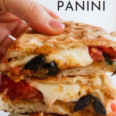 Pesto And Mozzarella Panini Pita