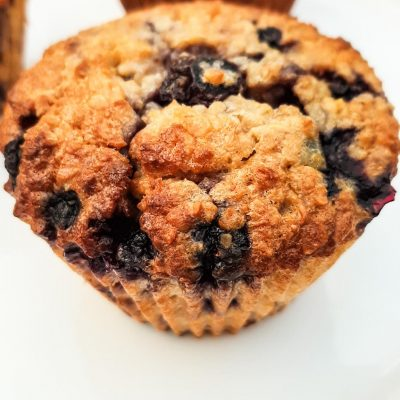 Healthy Breakfast Blueberry Oatmeal  Muffins (Flourless)