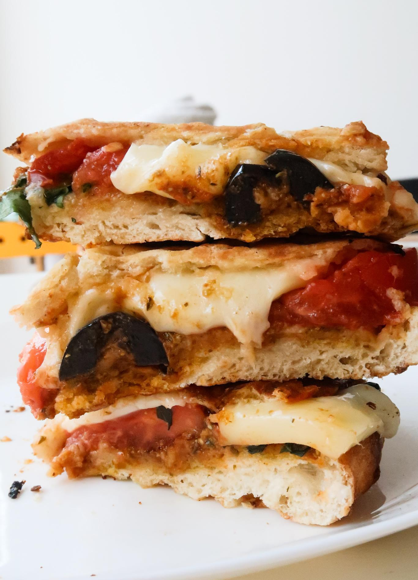 Delicious garlic, tomato pesto panini recipe, made with pita bread! Pretty similar to grilled cheese sandwich, this quick and easy recipe is a delicious lunch or even dinner (keeping things simple!!!).