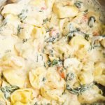 Easy creamy tortellini recipe - super delicious! This tortellini recipe is one of the best dinners I've ever had - creamy, satisfying and I only needed 30 minutes and a pan to make it!