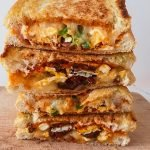 Delicious eggs, jalapeño and sausage grilled cheese sandwich is a 15-minute breakfast sandwich, but you can also make it for lunch or dinner too! This is an easy recipe that will teach you how to make a grilled cheese sandwich in a pan! #breakfast #sandwich #grilled #cheese