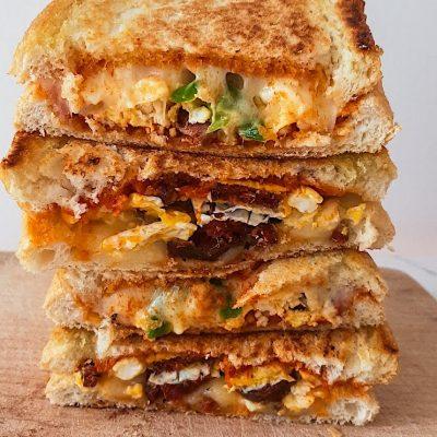 Egg & Sausage Grilled Sandwich