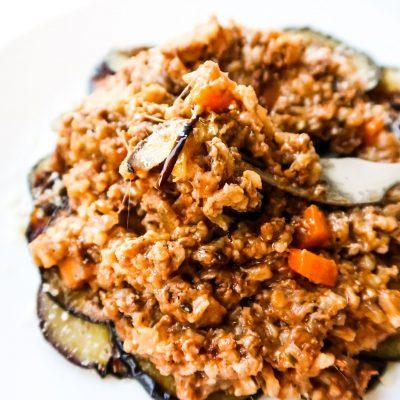 Cheesy Ground Beef Rice With Pesto Recipe