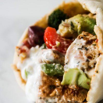 Amazing Mediterranean Chicken Wraps