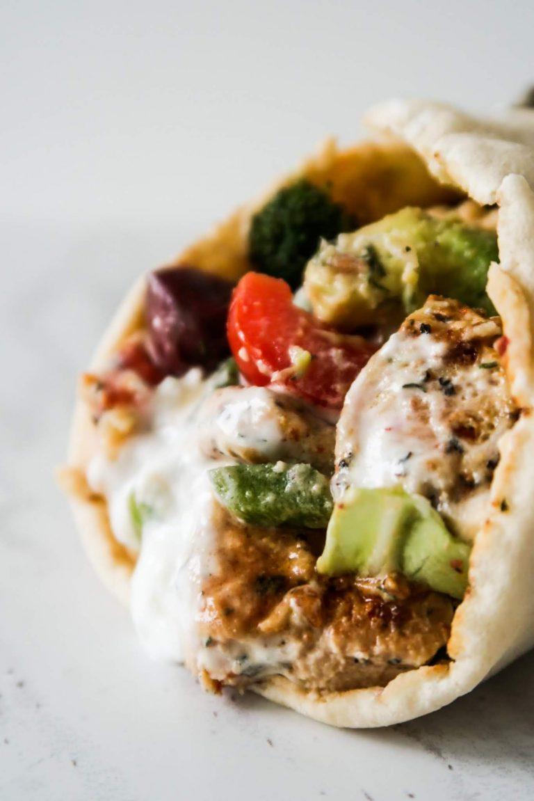 Easy Mediterranean Chicken Wraps | Perfect Healthy Dinner Recipe