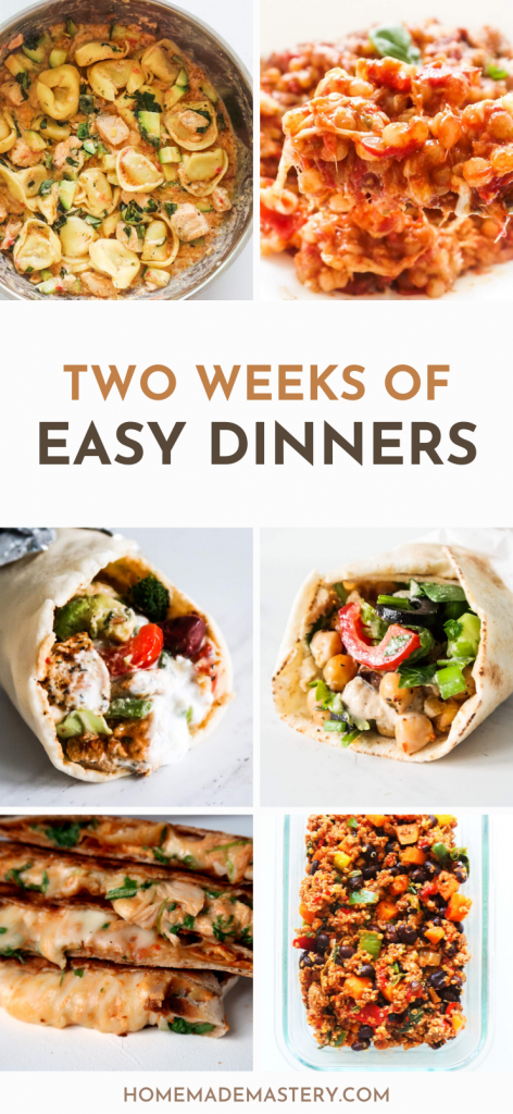Looking for easy dinner recipes you can make in 30 minutes or less during the week? These super easy dinner ideas all make perfect weeknight meals, but are so tasty you'll want to have them every day. You'll find easy pasta recipes, healthy ground beef recipes, easy chicken dinner recipes, vegetarian dinner recipes and more!