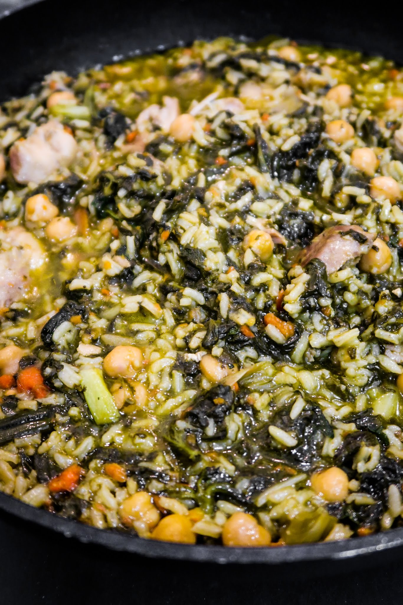 One-Pan Healthy Chicken and Rice recipe with spinach - Homemade Mastery