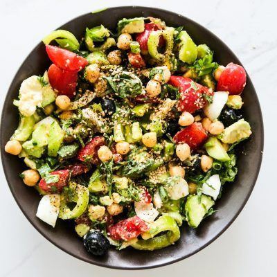 Healthy Egg And Chickpea Salad
