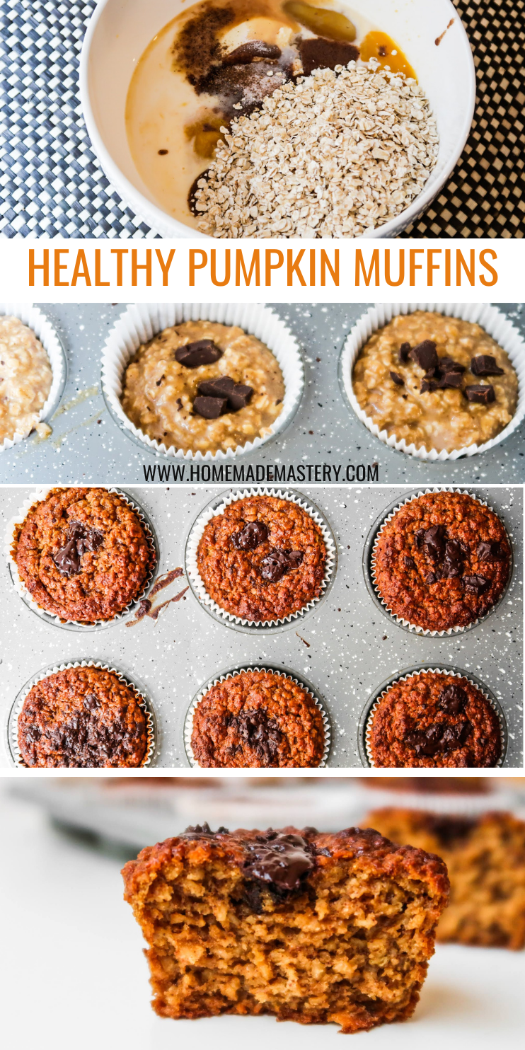 These healthy pumpkin muffins are an easy breakfast idea that you can make ahead for the week using only one bowl! A wholesome fall breakfast recipe that you'll want to eat in the morning or for a quick snack on the go. Flourless, refined sugar free, gluten free and dairy free!