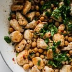 High protein spicy chicken and chickpeas