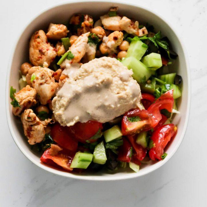 High-protein chicken recipes for dinner - Mediterranean Bowl