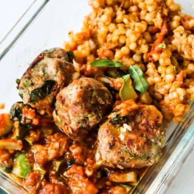 Easy Tomato Garlic Sauce For Turkey Meatballs Bowls Recipe