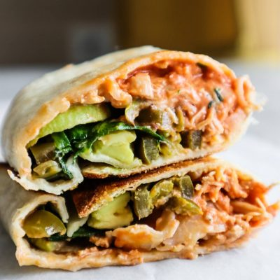 15-Minute Healthy Spicy Chicken Wraps