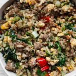 ground beef fried rice recipe - easy healthy dinner idea with ground beef