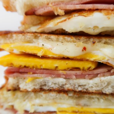 Egg, Ham & Cheese Breakfast Sandwich Recipe