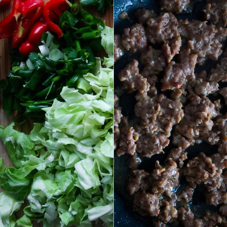 step 1 beef fried rice