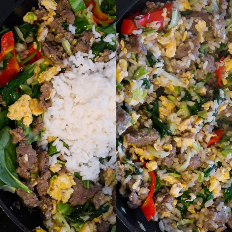 step 4 beef fried rice