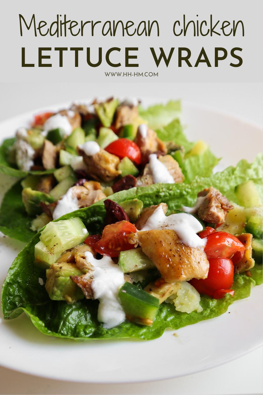 Easy Mediterranean chicken lettuce wraps