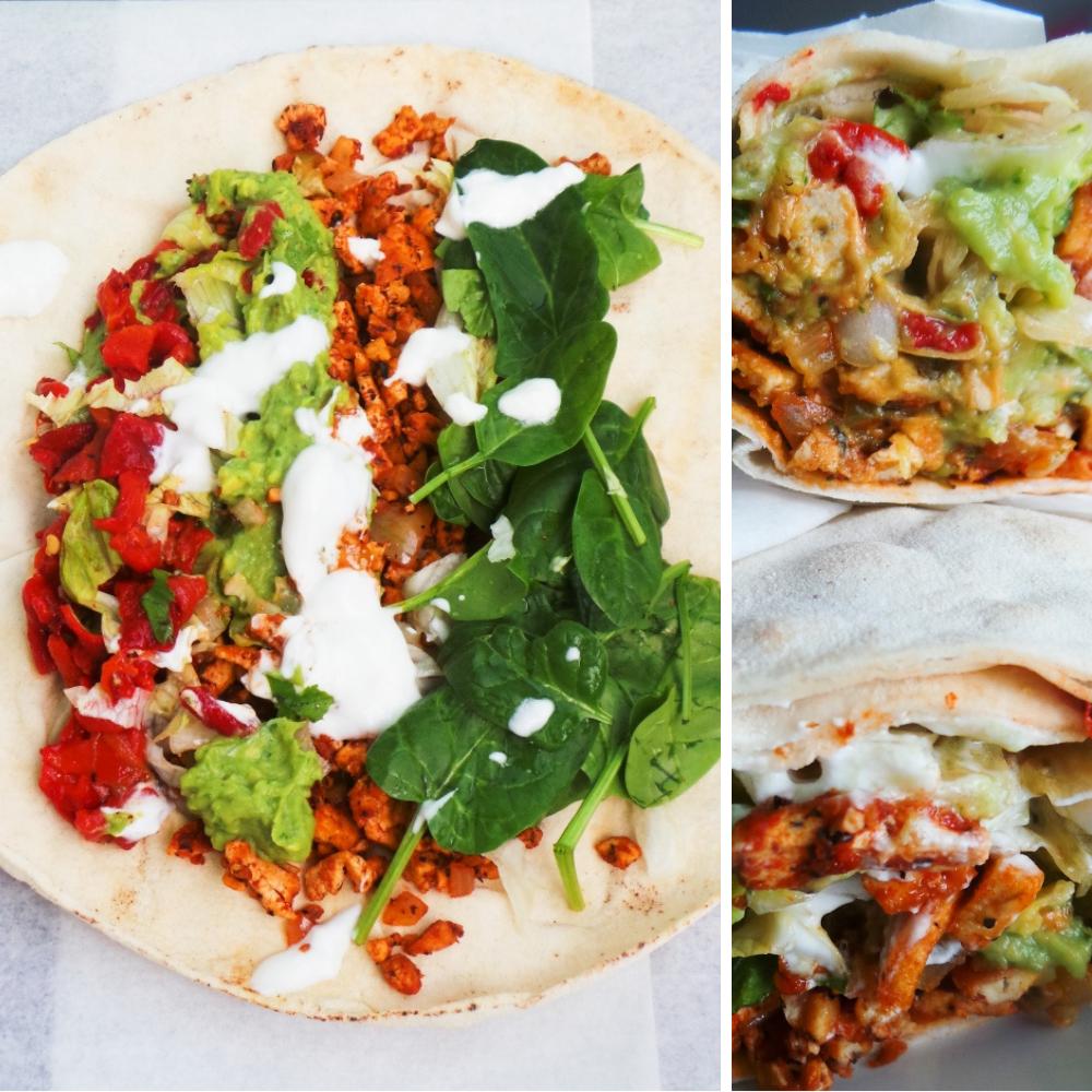 spicy vegan tofu wraps recipe: easy and delicious vegan dinner idea