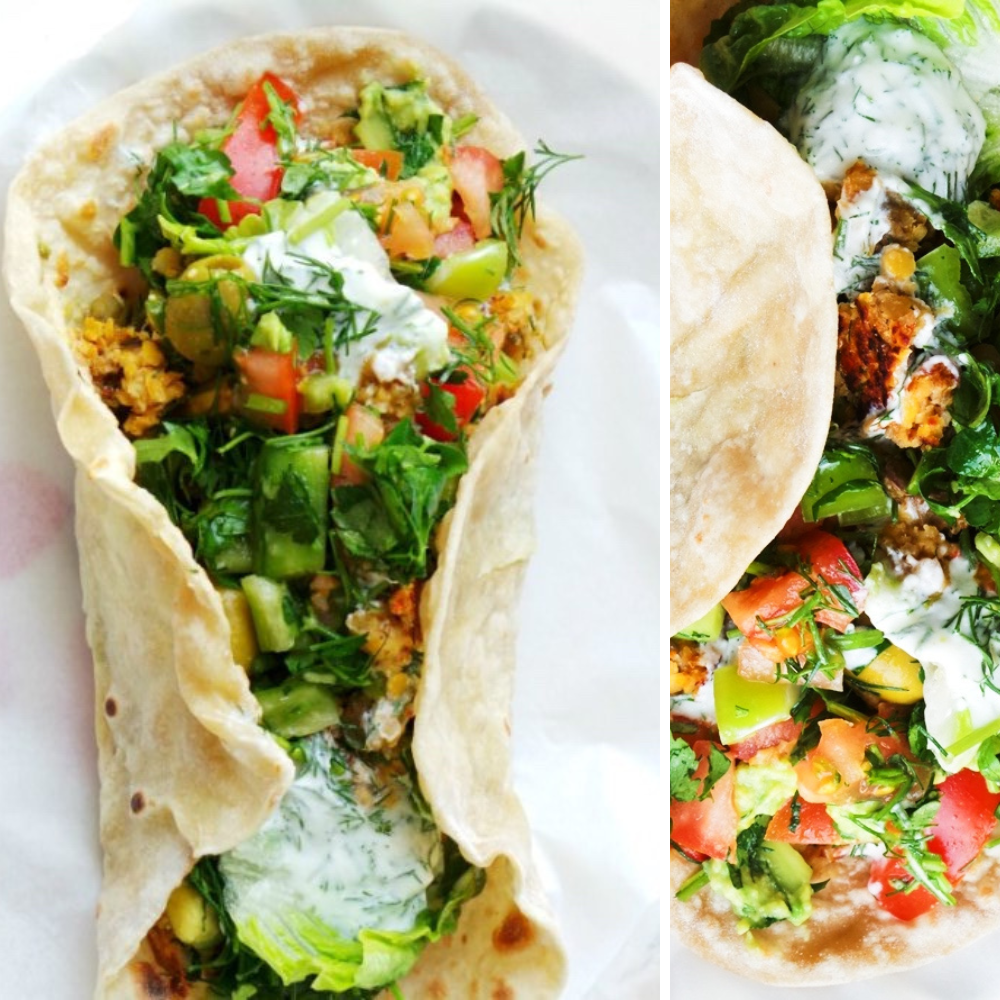 evolved lentil wraps: easy and healthy wrap recipes