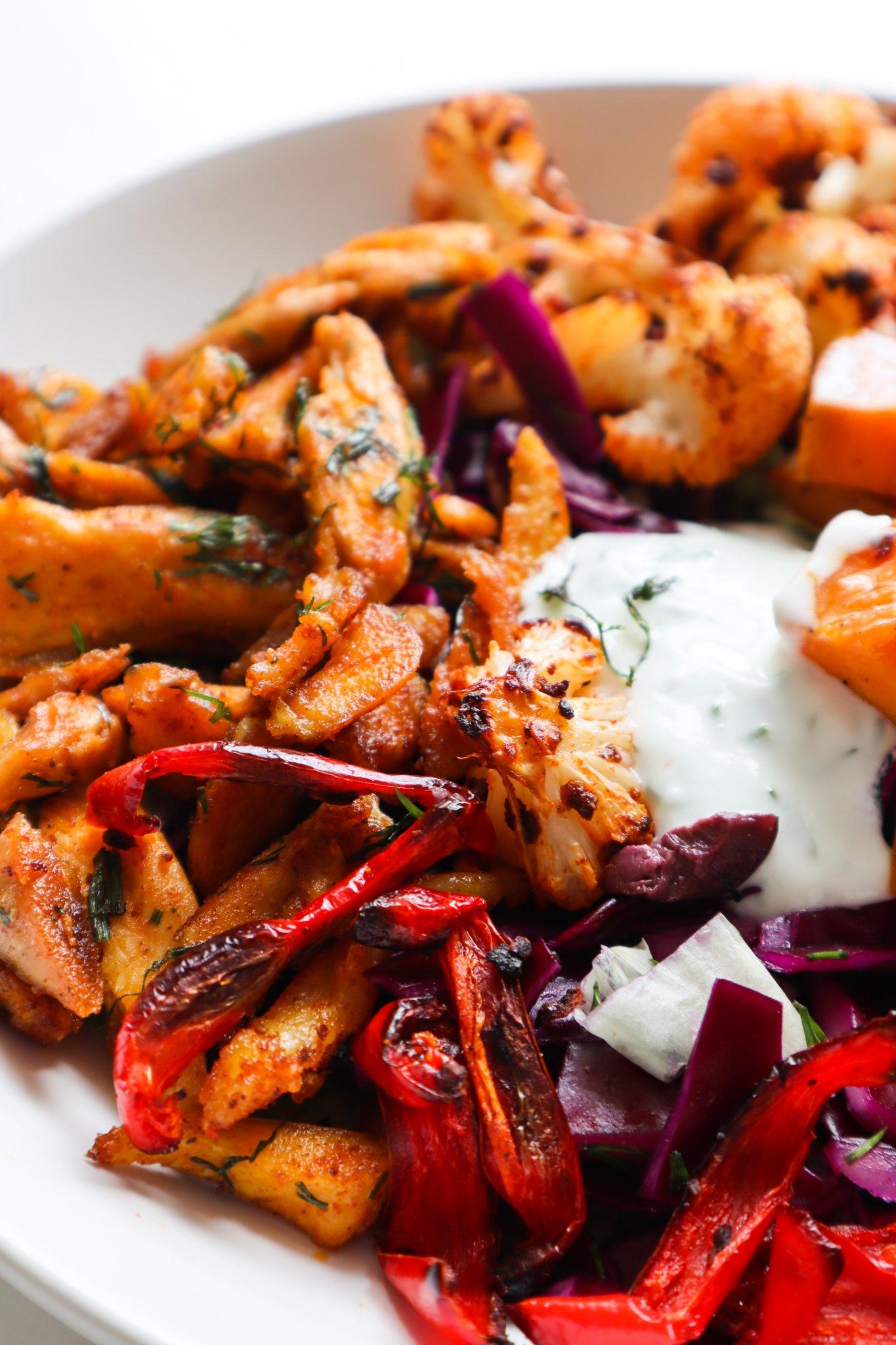 roasted veg chicken salad - easy healthy chicken salad recipes