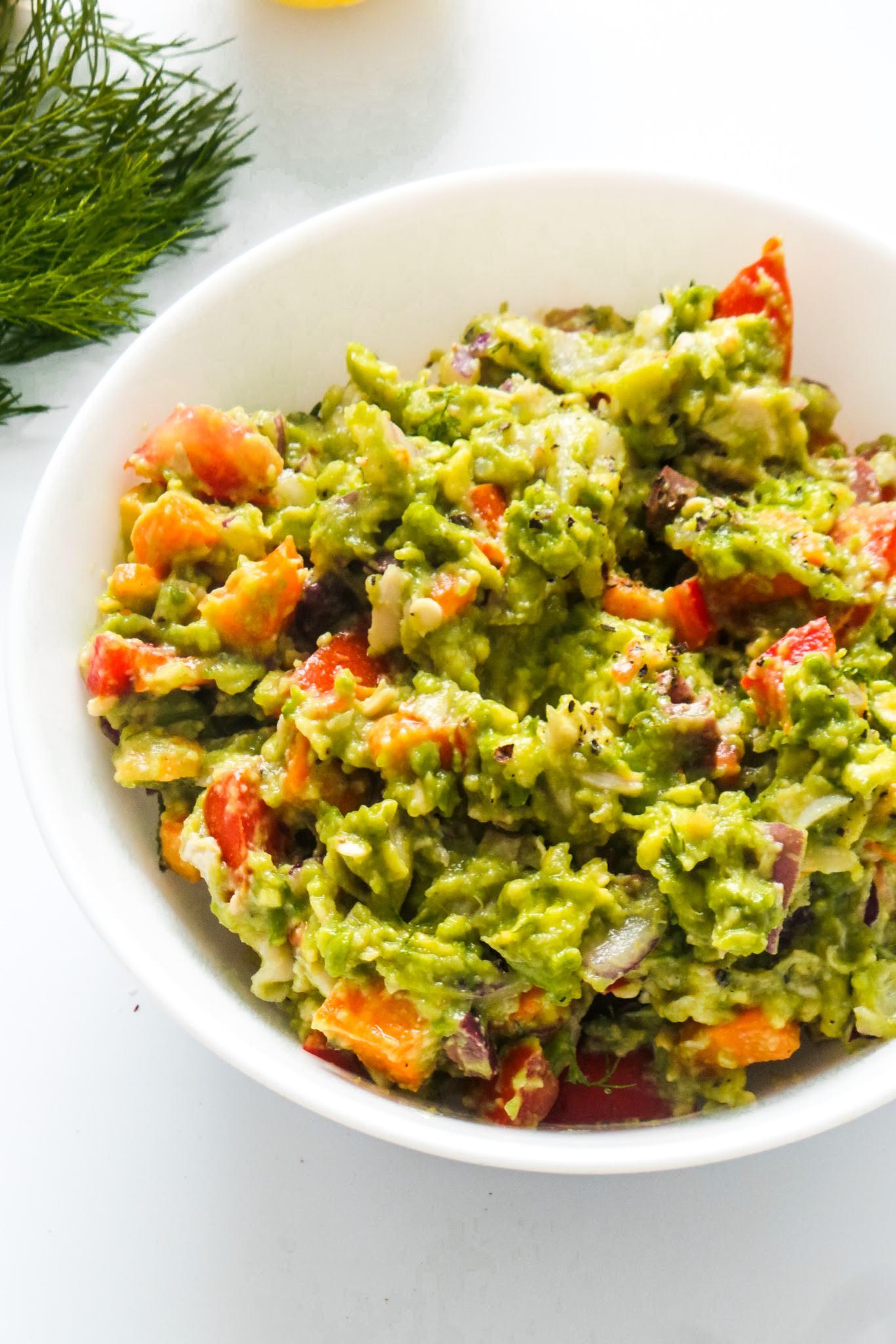 Mashed avocado dill chicken salad - easy chicken salad recipes