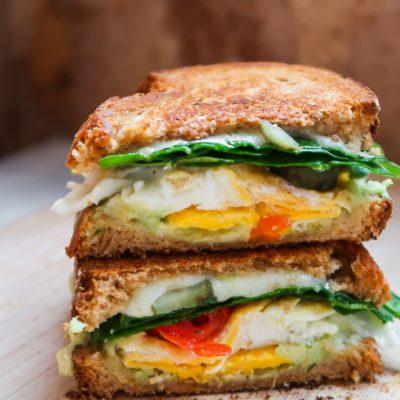 Healthy Avocado Egg Breakfast Sandwich Recipe