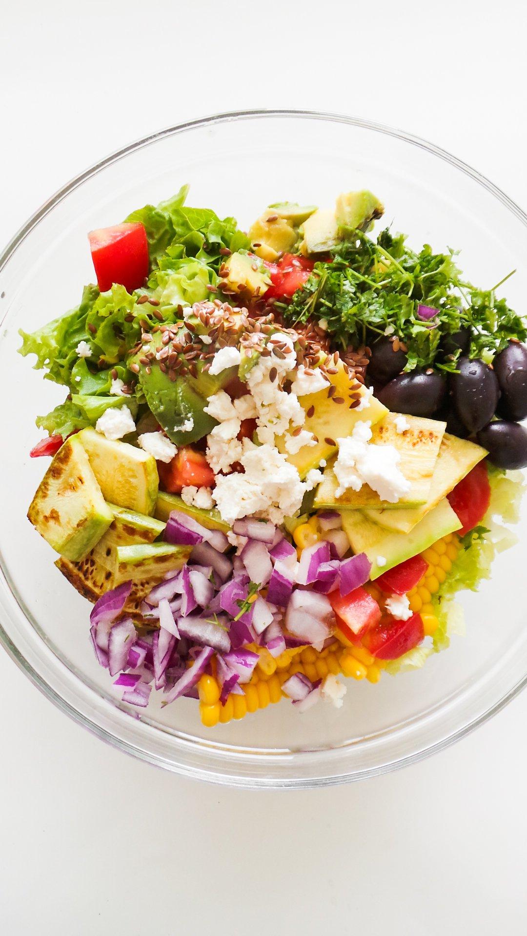 avocado corn and feta salad recipe