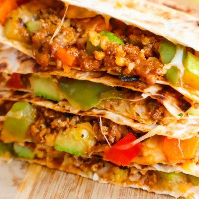Healthy Ground Beef Quesadilla (Easy Recipe)