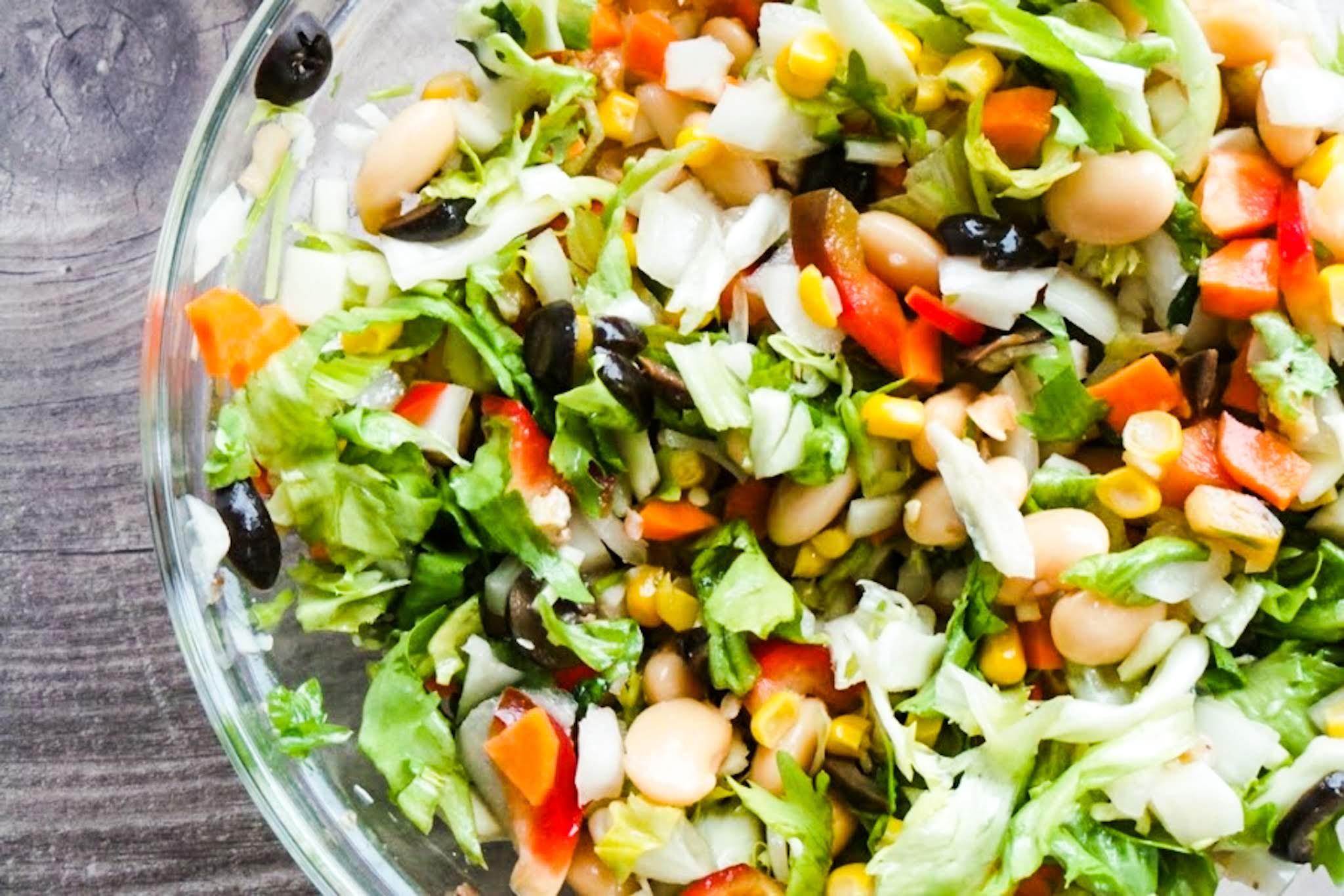 8 minute high fiber salad recipe - healthy vegetarian salad recipe