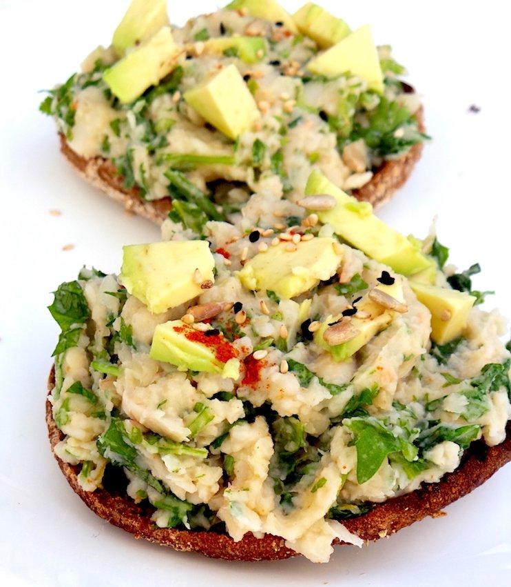 mashed bean salad