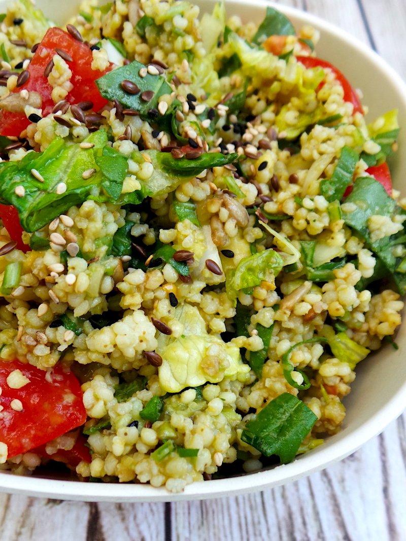 avocado millet salad - healthy vegetarian salad recipe