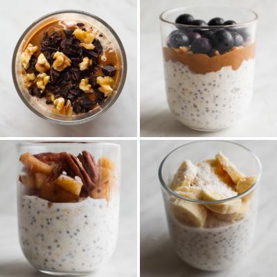 Healthy Overnight Oats Recipe (4 Ways)