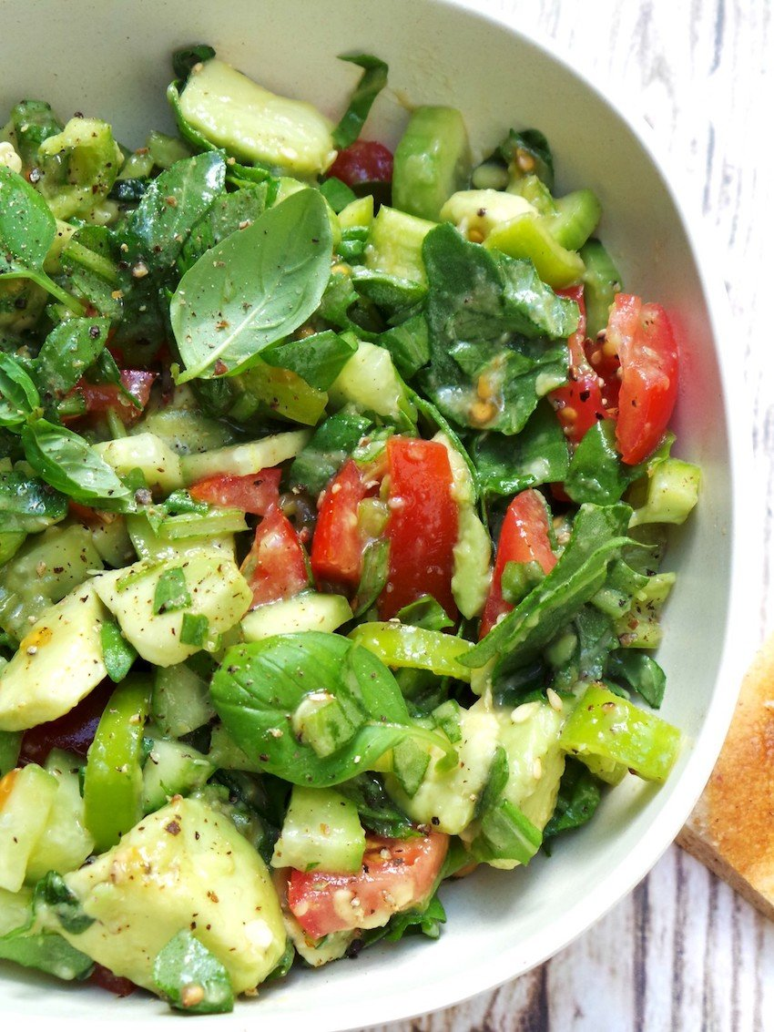 tomato avocado arugula salad