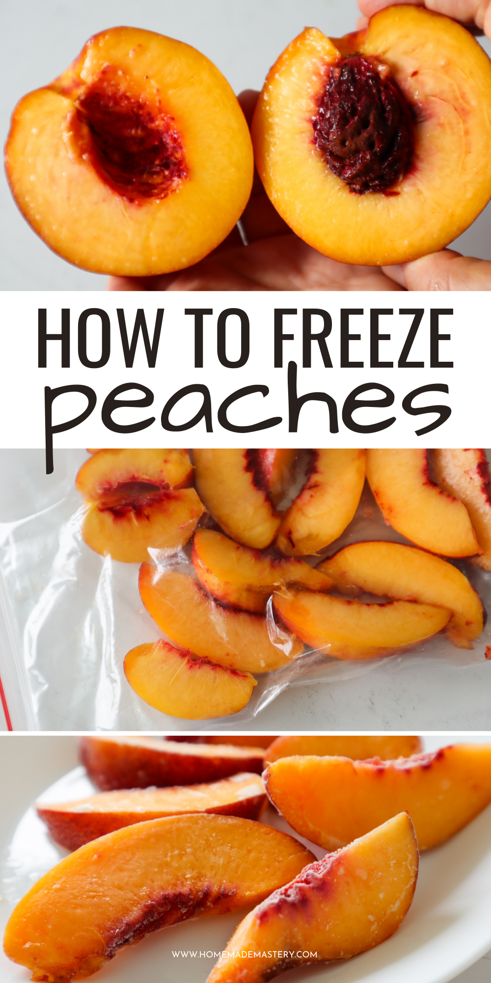 how to freeze peaches and preserve peaches for months + how to use frozen peaches in recipes