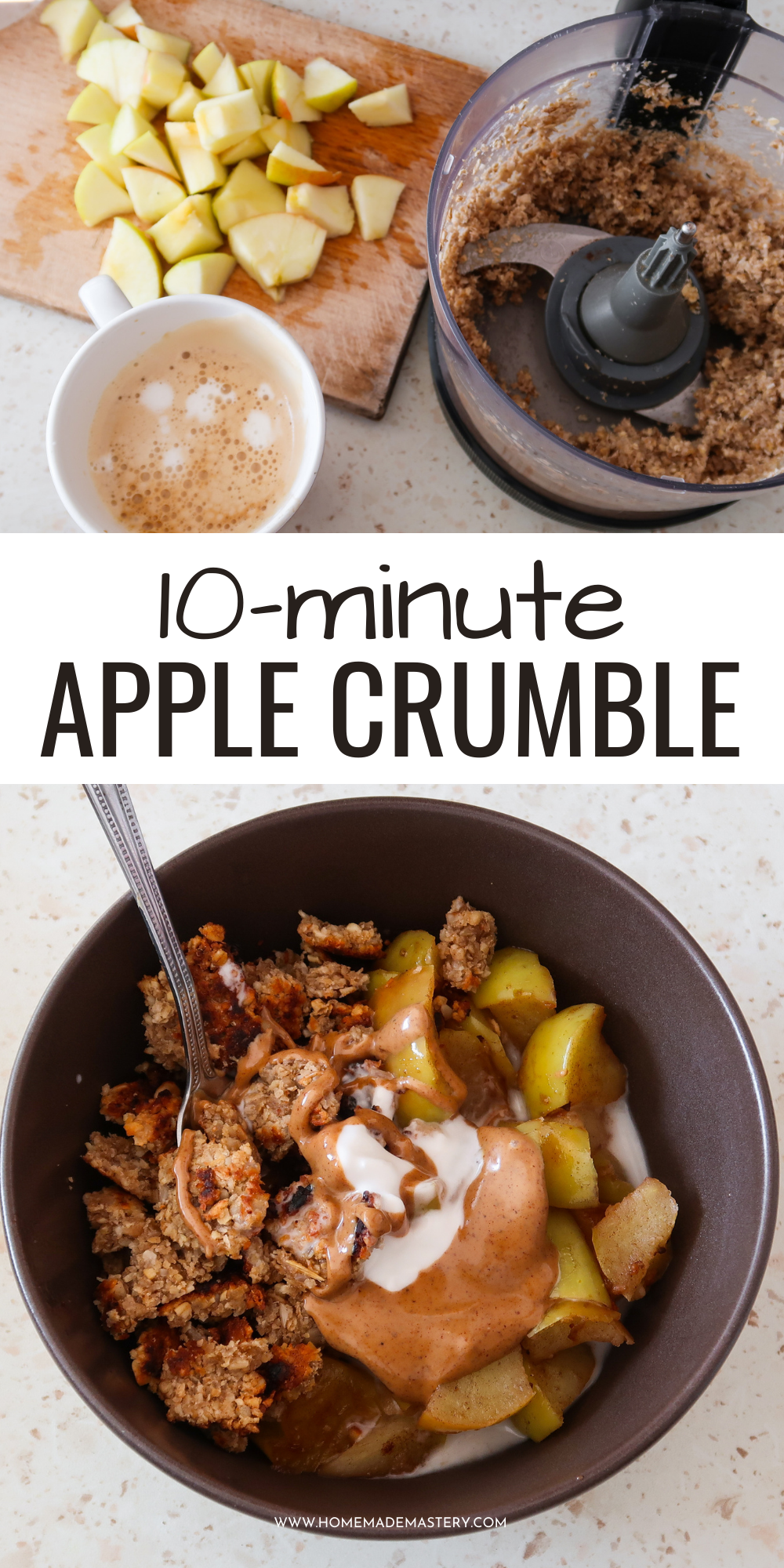 You can make this apple breakfast bowl in just about 10 minutes.