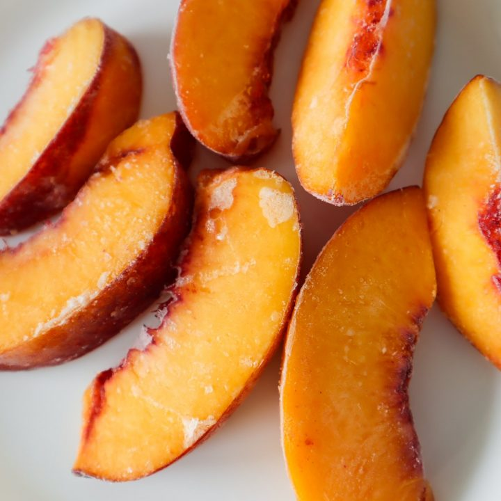 frozen peaches - how to freeze peaches without them turning brown