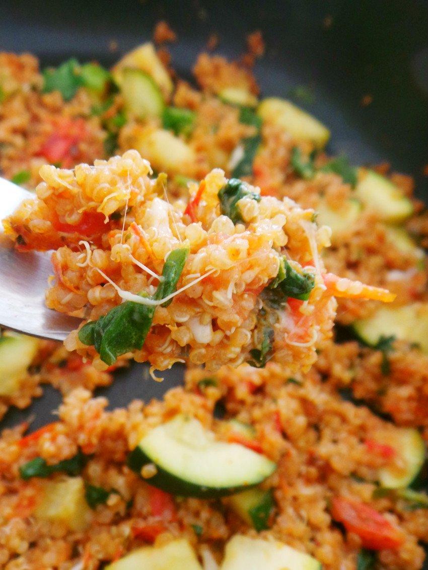 Tomato and basil quinoa recipe