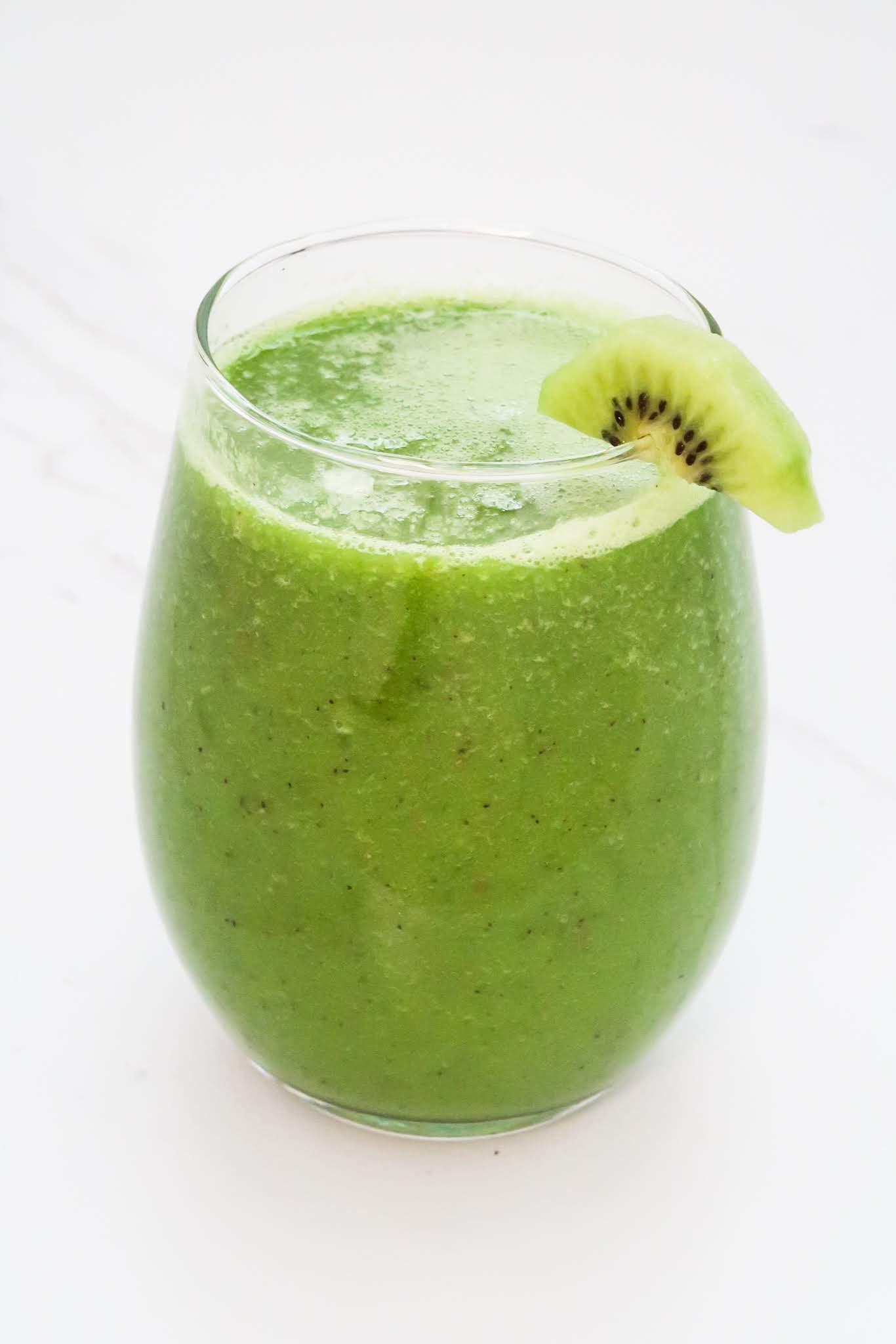 kiwi apple smoothie recipe - easy green smoothie