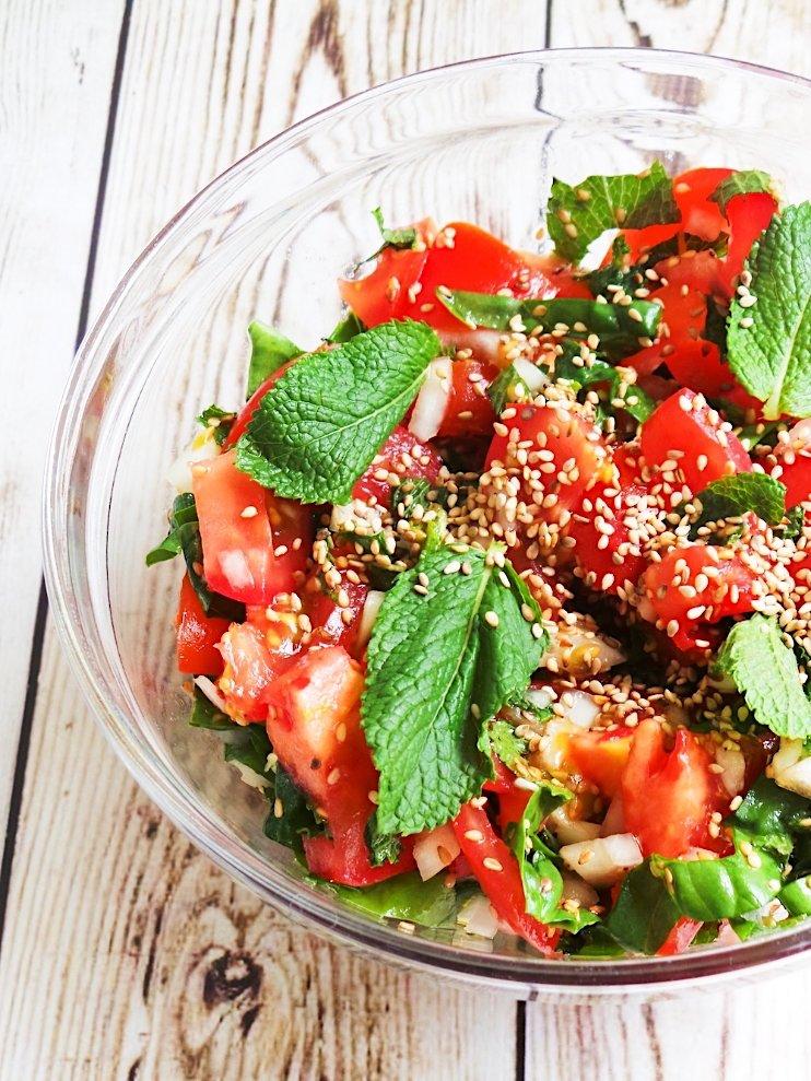 Fresh tomato mint salad recipe