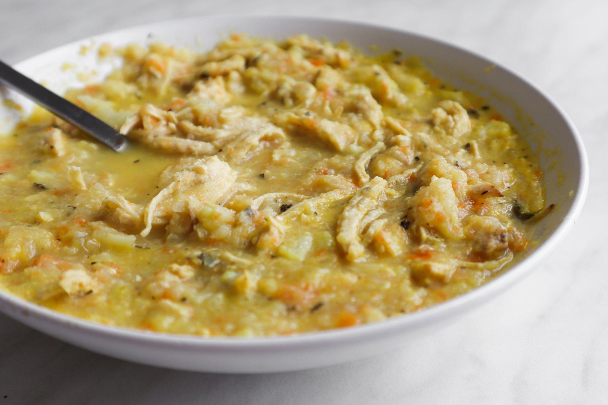anti-inflammatory chicken soup - easy leftover chicken recipe