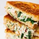 easy leftover chicken recipes - chicken salad melt sandwich