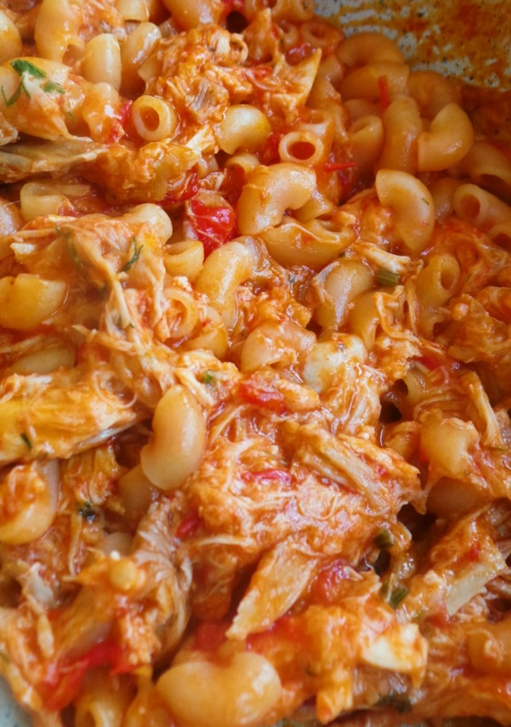 Healthy macaroni with chicken