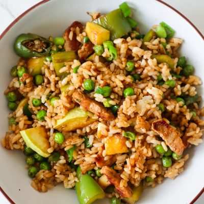 Healthy Rice And Chicken Dinner Skillet