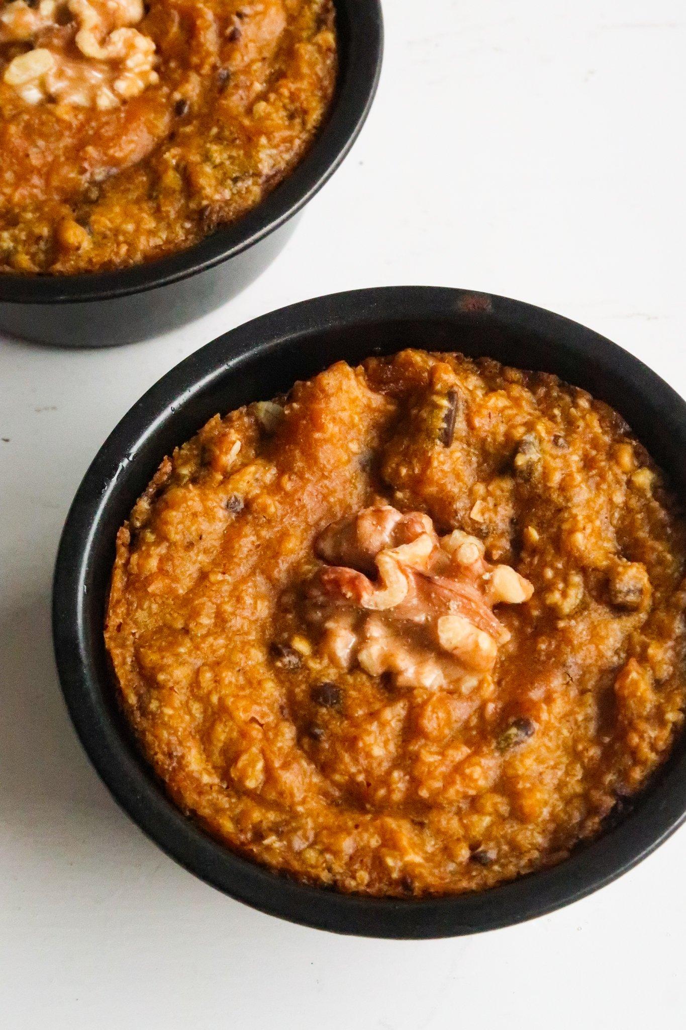 easy pumpkin baked oats - healthy pumpkin dessert