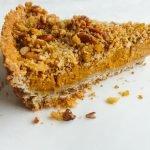 vegan crumble pumpkin pie - pumpkin dessert